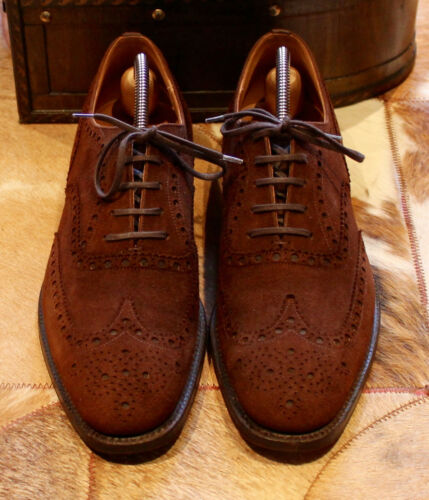 Suede Uomo Dark 'Buck' Brogue Custom Uk Grade Shoes Church's 9b Brown SIxp5qq
