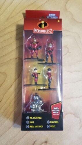 2018 NEW JADA Incredibles 2 Nano Metalfigs Disney Pixar 5 Piece