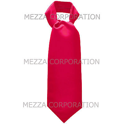 New 100/% Polyester Men/'s Paisley Ascot Cravat Only Wedding Prom Hot Pink