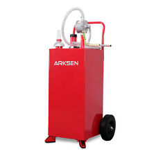 30 Gallon Gas Caddy Tank Storage Drum Gasoline Diesel Fuel Transfer Wired Hose
