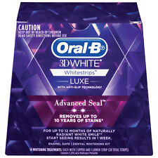 Oral B 3D White Luxe Advanced Seal Teeth Whitening White Strips 14 Pack