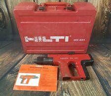 Hilti Dx 451 Powder Actuated Nail Gun Fastener Gun Case Manual Tested Working