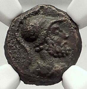 ANONYMOUS-81-196AD-Rome-Quadrans-Authentic-Roman-Coin-MARS-CORNUCOPIA-NGC-i72906
