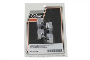 Acorn Style Colony 7142-4 Rocker Shaft End Plug Kit Chrome