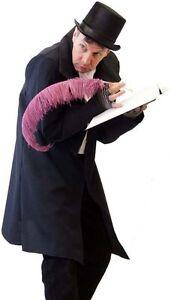 Steampunk-Victorian-Dickens-Scrooge-BOB CRATCHIT Frock Coat & Top Hat SML-4XL
