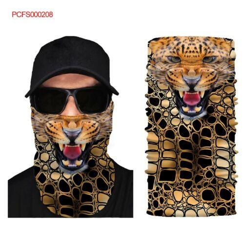 Wolf Face Mask Sun Shield Neck Gaiter Headband Bandana Skull Cap #205