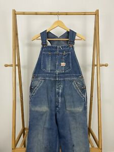 RARE-VTG-50s-Penny-039-s-Pay-Day-Sanforized-Union-Made-Distressed-Bib-Overalls