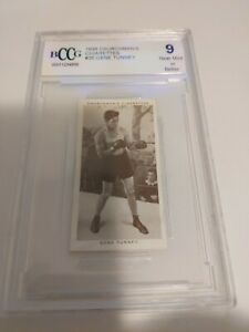 1938 Churchmans's Cigarettes Gene Tunney Boxing Card Personalities #35 BCCG 9🔥