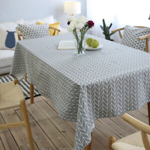 1Pc-Geometry-Rectangle-Dinning-Table-Linen-Tablecloth-Cover-Party-Decor-Charm