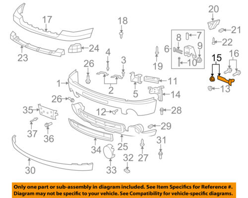 GM OEM Front Bumper-Outer Brace Right 22861859