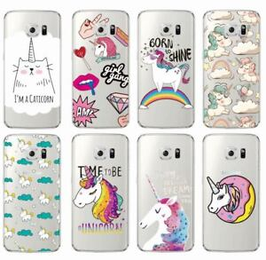 new product 0cce8 7910d Details about Unicorn Phone Case Cover for For Samsung Galaxy J5 A5 S6 S7  Edge S8 Cute ...