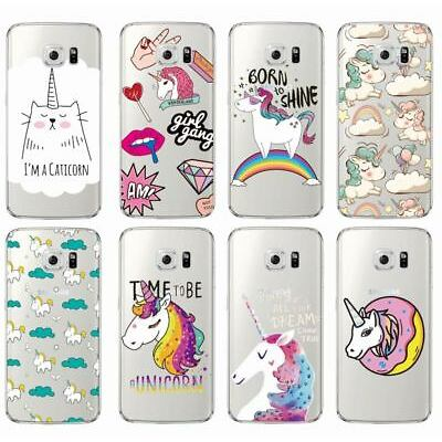 Unicorn Phone Case Cover for For Samsung Galaxy J5 A5 S6 S7 Edge S8 Cute ...