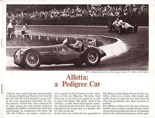 ALFA ROMEO Alfortville tipo 158 e 159 RACING storia ORIGINALE UK BROCHURE / libretto