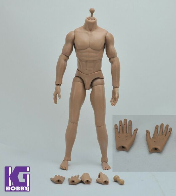 Muscular Club 1/6 nude action figure Muscle body+3 pairs wire hand Caucasian