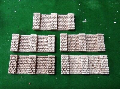 5 X Block Stone Retaining Wall Sections Oo/ho Scale- Painted Eppure Non Volgare