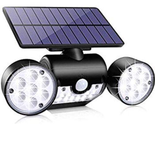 giardino Movimento Per Esterni Solare LED Luce Sensore TD 2144 DUAL HEAD i riflettori