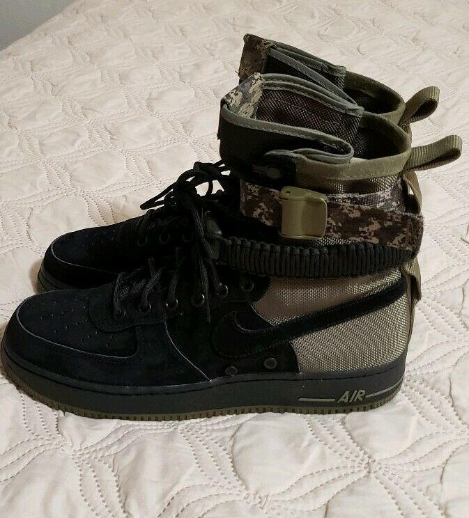 b4db68a5f941 Nike Nike Nike SF AF1 Camo Men s size 10 Black Olive Green Special Force New  without box 8d0a37