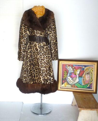 Vtg 50s 60s ROBERT MESHEKOFF Faux Leopard Flared P