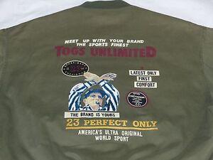 SurCharles Veste Afficher Togs Comme Vintage Neuf Vert Titre Le D'origine Bomber Détails Unlimited Armée GrXl Chevignon NwOv8nm0