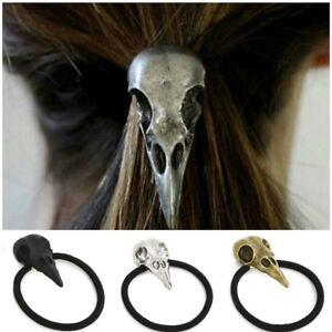 656f04c2a5087 New Halloween Bird Skull Hair Tie Plague Doctor Crow Raven Band ...