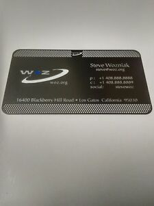 Steve wozniak metal business card apple computer co founder woz ebay image is loading steve wozniak metal business card apple computer co colourmoves