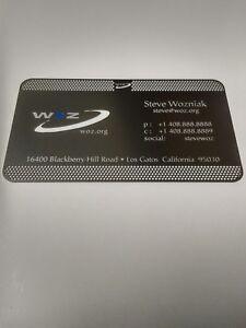 Steve wozniak metal business card apple computer co founder woz ebay image is loading steve wozniak metal business card apple computer co colourmoves