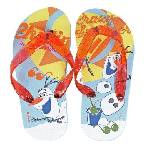 olaf tailles 6-7 8-9 10-11 12-13 anna Tongs pour enfants-Disney Frozen Elsa
