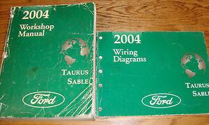 2004       Ford       Taurus       Mercury    Sable Shop Service Manual  EVTM Wiring    Diagram    Set 04   eBay