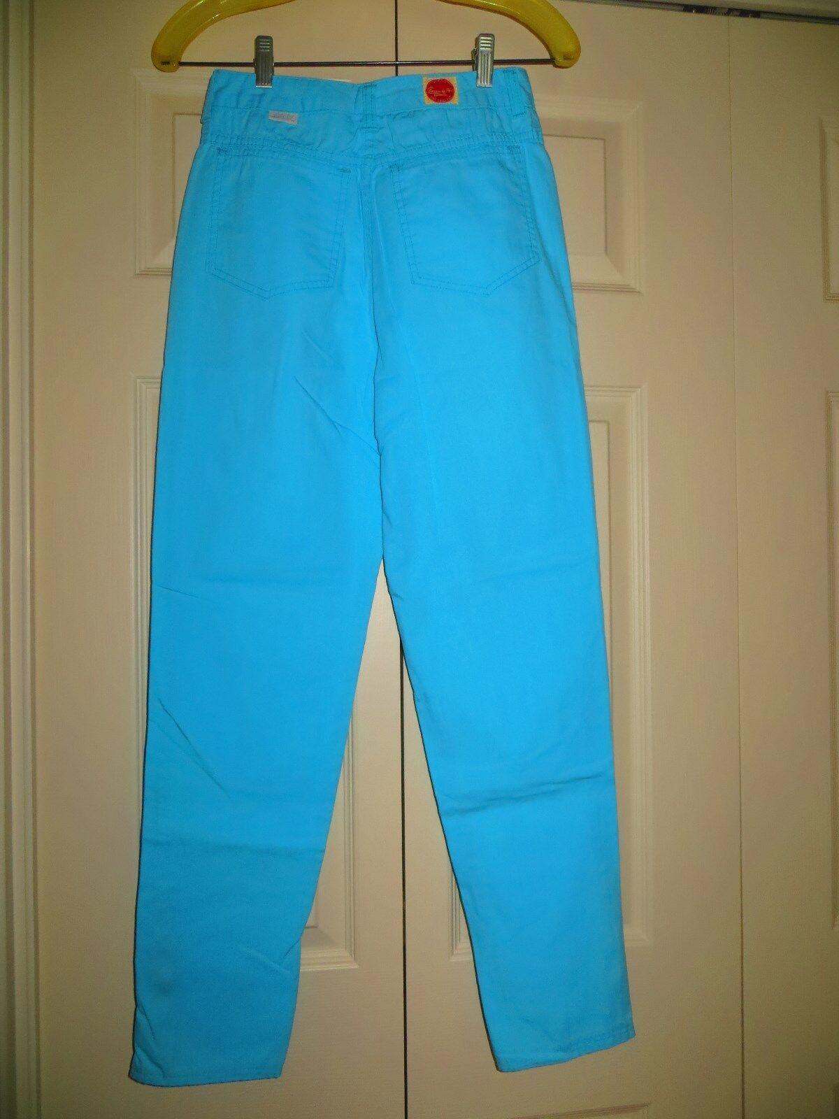womans skinny jeans pants blue cotton 31/28 Chemi… - image 5