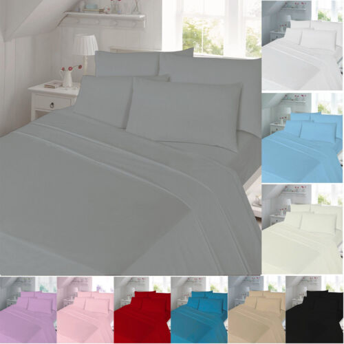 Thermal Flannelette Fitted Bed Sheet Single King Double All Sizes Brushed Cotton
