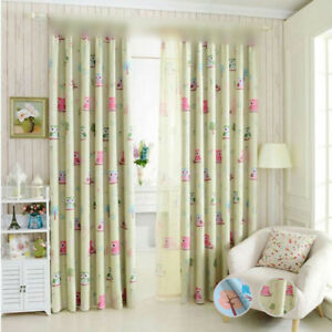 Image Is Loading Ring Top Blackout Curtains Kids Room Lovely Cartoon