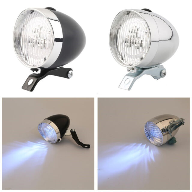 Retro Bicycle Bike 3 LED Front Light Headlight Vintage Flashlight Lamp New LN