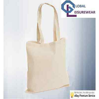 10 Pack 100% Eco Premium Cotton Promotional Canvas Shoulder Tote Shopper Bags