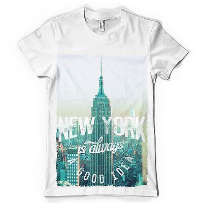 Geschickt New York Is Always A Good Idea Skyline Dtg. Full Colour T Shirt