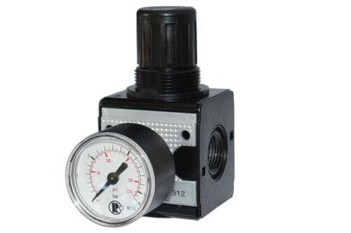 """1/"""" con manómetro Aire comprimido-regulador regulador de presión reductor de presión 1//4/"""""""