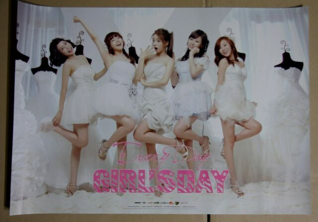GIRL'S DAY - Everyday / OFFICIAL POSTER *HARD TUBE CASE*