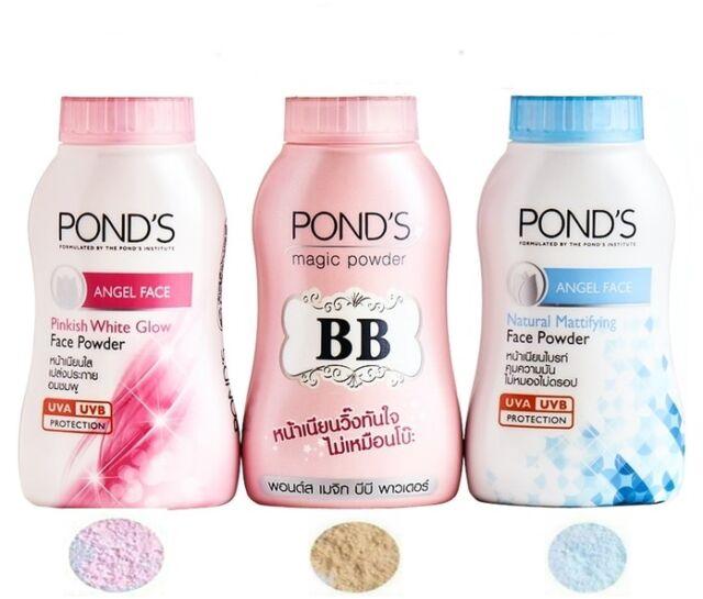 50g Pond's BB Magic Powder Oil & Blemish Double UV Control Cool Blue Sweet Pink