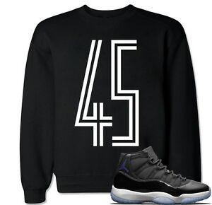 premium selection 7b63e daabe Image is loading Space-Jam-45-Sweater-to-match-with-Air-