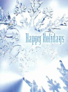 Boxed-Christmas-Cards-Snowflake-Design-4-034-x-6-034-16-Cards-amp-17-White-Envelope