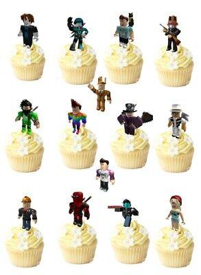 14 Roblox Premium Stand Ups Wafer Commestibile Cup/decorazioni Per Torta Festa Pre-tagliati- Stile (In) Alla Moda;
