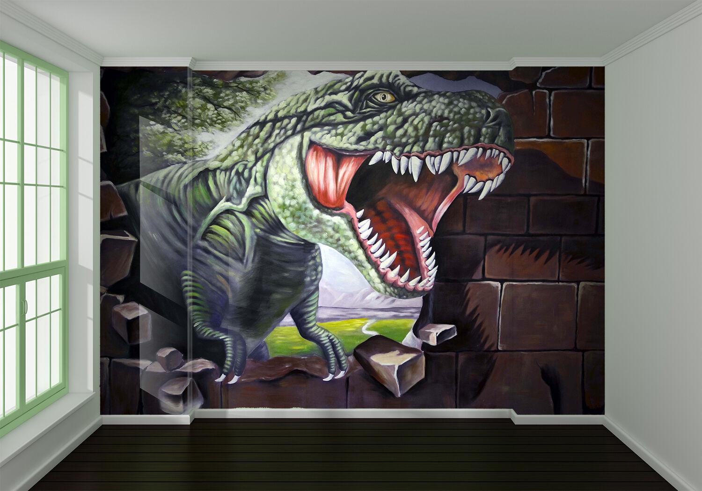 3D Grün dinosaurs 3243 Wall Paper Print Wall Decal Deco Indoor Wall Murals