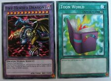 YUGIOH Five-Headed Dragon & Toon World Common 1st Edition MIL1-EN012/42