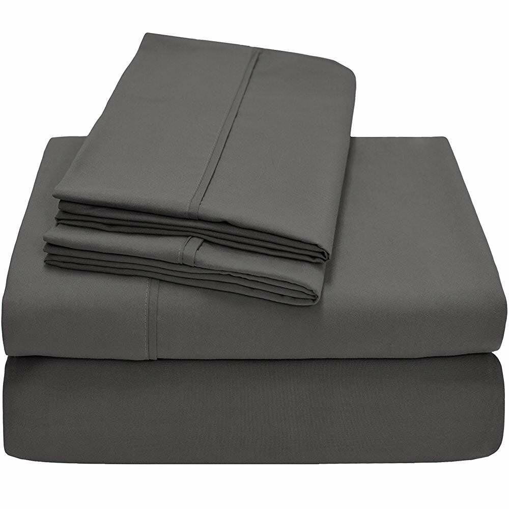 Top Bedding collection Dark Grey Solid Cotton 800-TC All Size Available