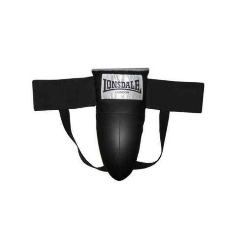Lonsdale Boxe Formazione JAP Inguine Coppa Protettore SENIOR ADULTO UOMO NERO R141