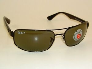 5bec69027e62a New RAY BAN Sunglasses Black Frame RB 3445 002 58 Polarized Green ...