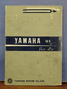 Original Yamaha U5 Motorcycle Parts List Manual Book Ebay