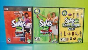 Sims 2 Teen Style University Business Lot  - PC Game Works tested ! PC DVD Rom