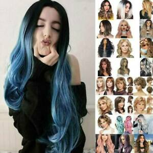 Women-039-s-Fashion-Short-Long-Straight-Curly-Wavy-Natural-Hair-Full-Wigs-Hairpieces