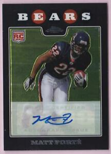 MATT-FORTE-RC-2008-TOPPS-CHROME-ROOKIE-AUTO-TC191-BEARS-AUTOGRAPH