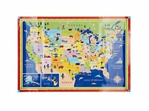 Geographical Map Of United States.Eeboo United States Geographical Map This Land Is Your Black Office Products